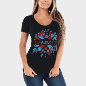"Aloud – ""Eruption"" (V-Neck, Black)"
