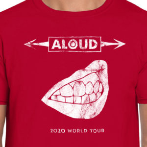 "Aloud – ""2020 World Tour"" T-Shirt (Unisex, Cherry Red)"